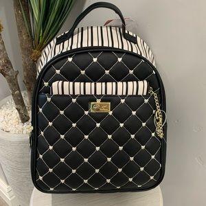 NWT Betsey Johnson Black & White Heart Backpack